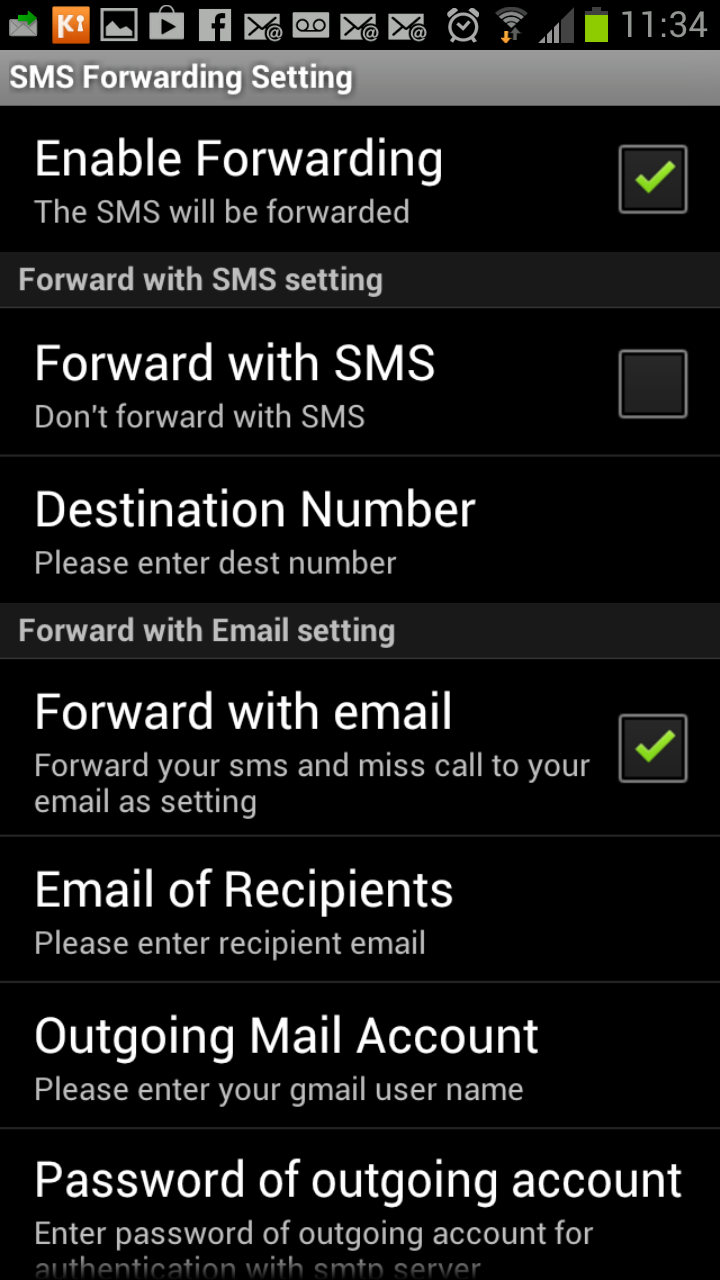 break stuff majorly: Forward your Android SMS to email