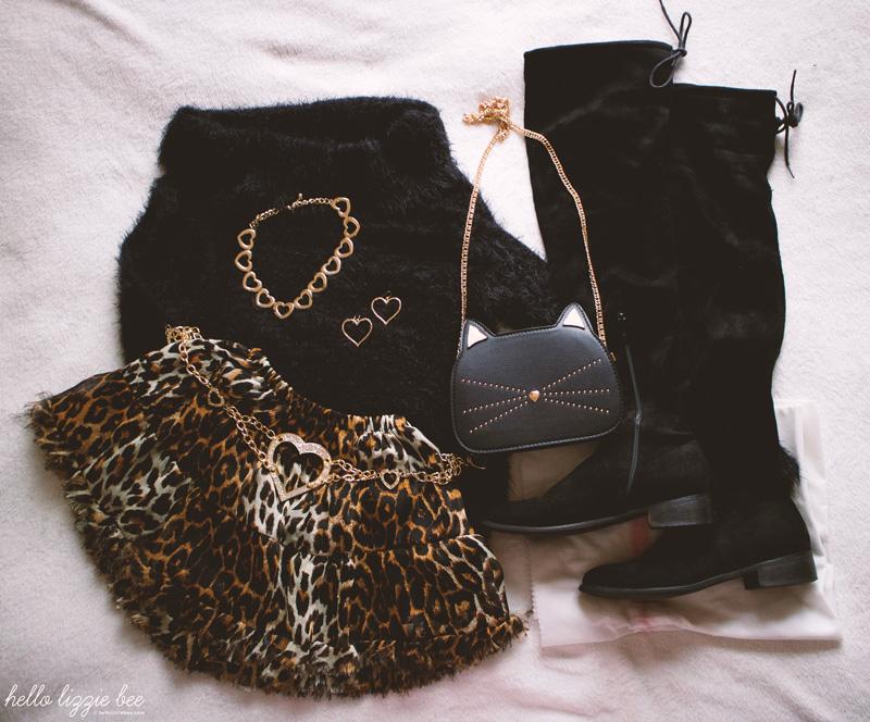 agejo gyaru winter outfit
