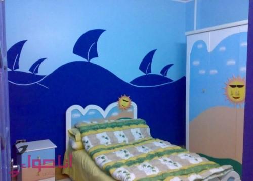 دهانات غرف اطفال باللون الأزرق والسماوي