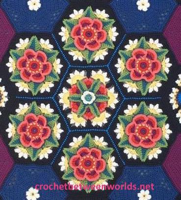 Crochet between worlds: Frida\'s Flowers CAL - Edging and TA-DAH!