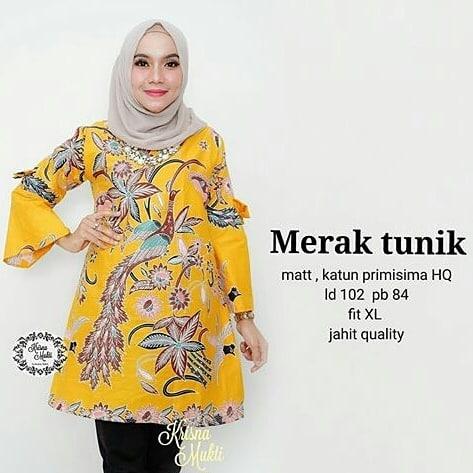 48 Model Baju Batik Atasan Wanita Terbaru 2019 Model Baju Muslim