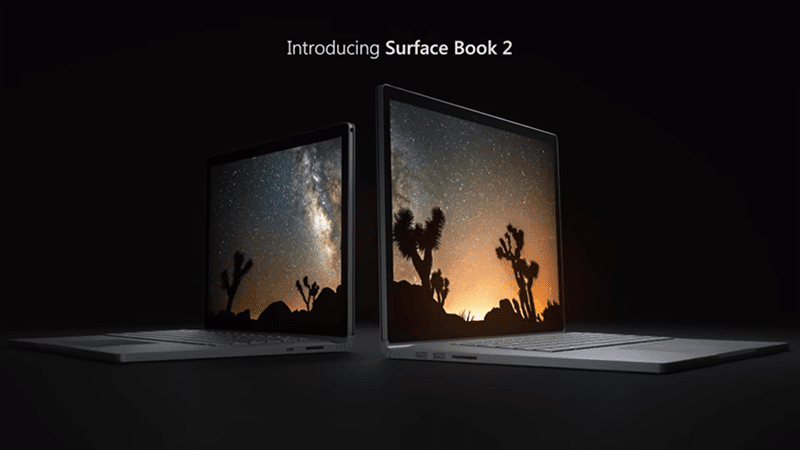 Microsoft Announces Surface Book 2