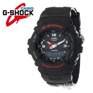 CASIO G-Shock G100-1BV Military Watch (Analog-Digital Hybrid)