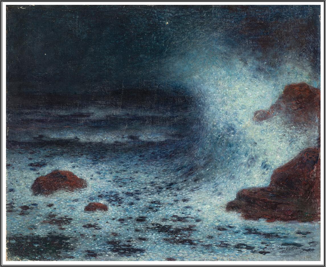 ferdinand loyen du puigaudeau 1864 1930 vagues dans la nuit