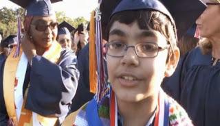 Tanisqh-Abraham bocah 11 tahun raih 3 gelar sebagai sarjana muda