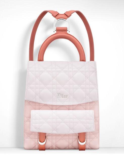 Desejo do dia - Mochila branca e cor de rosa da DIOR