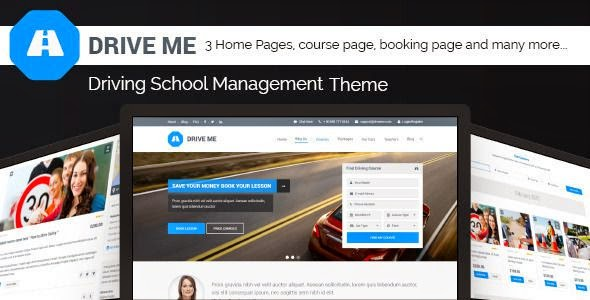 Driveme - Driving Class | School HTML Template