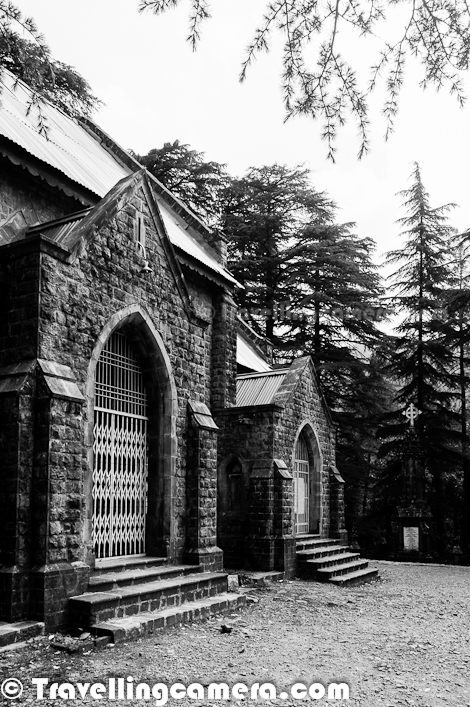 Old Photo Journey of St. John's Church is one of the most popular ones so far and if you have missed old one, we strongly recommend to see old photographs and those were clicked in appropriate season of the year with wonderful Himalayan Hues... HERE... This Photo Journey shared some of the recent photographs from our last visit to Mcledoganj and next will be planned with Mountain-Cleaners to make surroundings of this place cleanerThis time, we had enough time to spend around St. John Church in Mcledoganj. We were staying in Dharmshala, took a local bus from Dharmshala Bus-Station and reached this church which comes on the way from Dharmshala to Mcledoganj. It was a great welcome at church with wonderful music all around. I have been to this place many times and this was first time, when we listened prayers at St. John Church. It was Sunday Morning..This road you see on left is the one which connects Mcledoganj with Dharmshala. Mcledoganj is hardly 1.5 kilometers from here and after spending some time around the church we walked till Mcledoganj Market. In above photograph you can see that church is just on right side of this road and connected through a well maintained concrete path till main gateThis Photograph shows back side of St. John Church. Entry is on other side which is facing main road. This Photograph is clicked from the forest which is in back side of this church, although this whole hill is covered with high Cedar Trees. It was clear day, which is extremely unpredictable in Dharmshala/Mcledoganj. In India after Chirapoongi, Dharmshala gets maximum rains. In fact on same day it rained and we had to spend 2 hrs inside a cafe at Mcledoganj.During this visit, we met a gentleman who was cleaning the space around St. John Church. He comes to this place from Dharmshala every Sunday and do this work as a volunteer. Unfortunately he can't clean all hills around this place and tourists have made this place full of plastic bottles and wrappers. Mountain Cleaners is