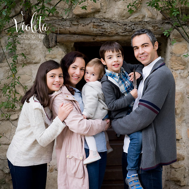 Foto de familia numerosa