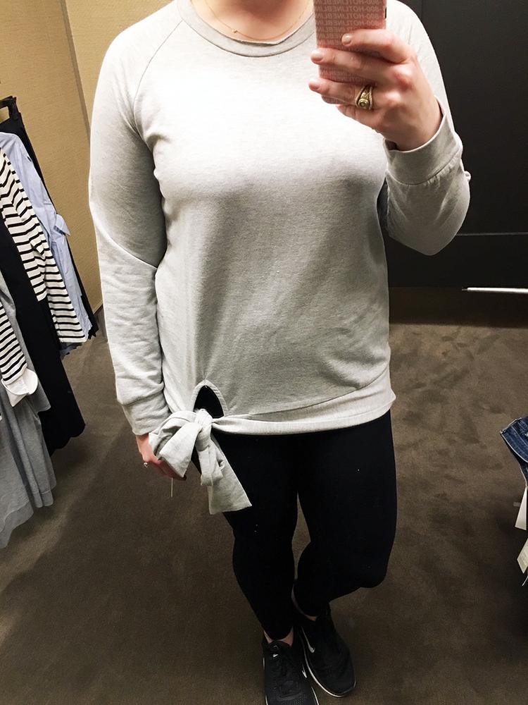 8570670cc nordstrom anniversary sale 2017 fall fashion preview style caslon tie knot  sweatshirt zella live in leggings