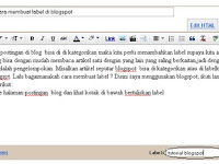 Cara membuat label di blogspot