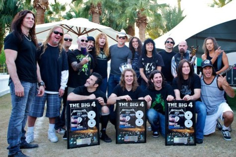 metallica slayer megadeth anthrax presented with double platinum plaques for 39 big four 39 dvd. Black Bedroom Furniture Sets. Home Design Ideas