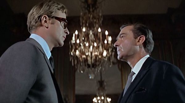 Michael Caine as Harry Palmer with Guy Doleman as Colonel Ross