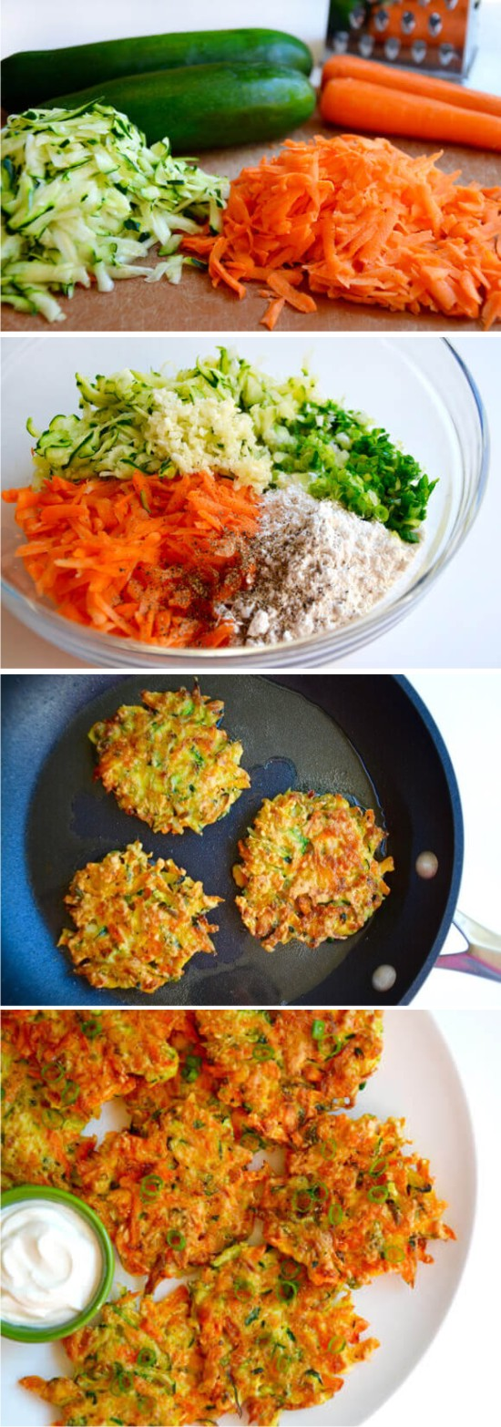 Quick and Crispy Vegetable Fritters Healthy Recipe