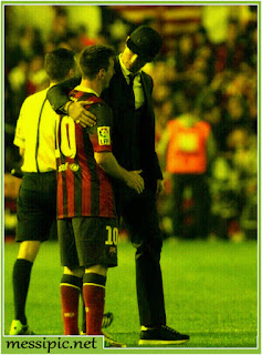 Ronaldo consoling Messi copa del rey 2014