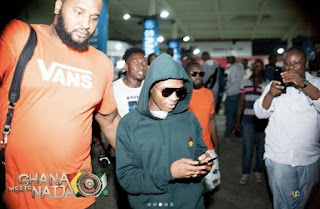 Checkout Pictures From The Arrival Of Wizkid For 'Ghana meets Naija' Event (Photos)