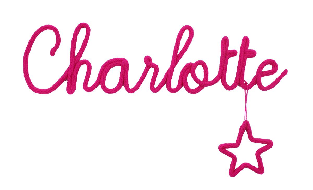 Latelier Des Petites Bauloises Prénom De Laine Charlotte