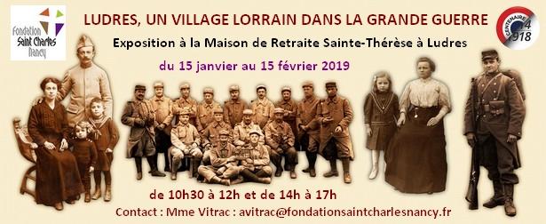 """LUDRES (54) - Exposition """"Ludres, un village lorrain dans la Grande Guerre"""" (15 janv.-15 févr. 2019)"""
