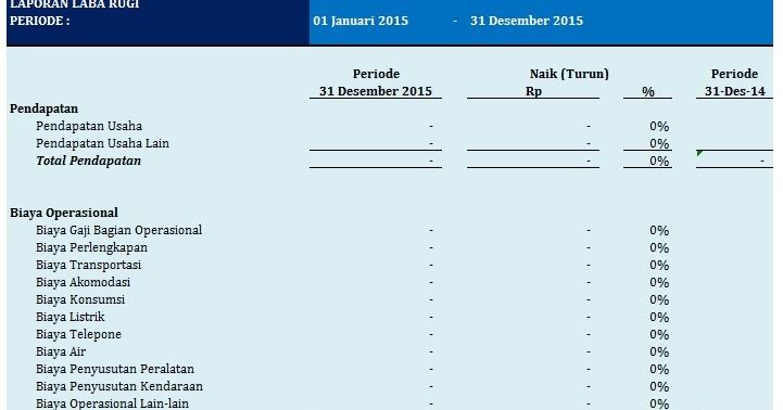 Membuat Laporan Laba Rugi Perusahaan Dengan Excel 2010 300 Rumus Excel