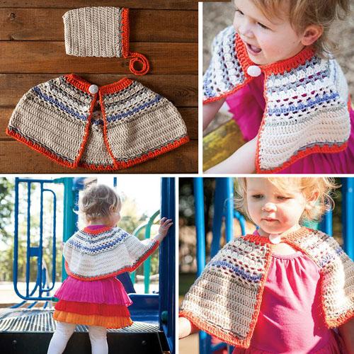 Bouquet Poncho & Bonnet Crochet Set - Free Pattern