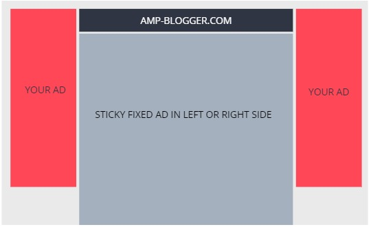 How to Add Sticky Fixed Ad in Left or Right Side with CSS