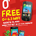 Get a FREE O+ 6.3 WIFI when you buy an O+ 8.12 ANDROID Smartphone!