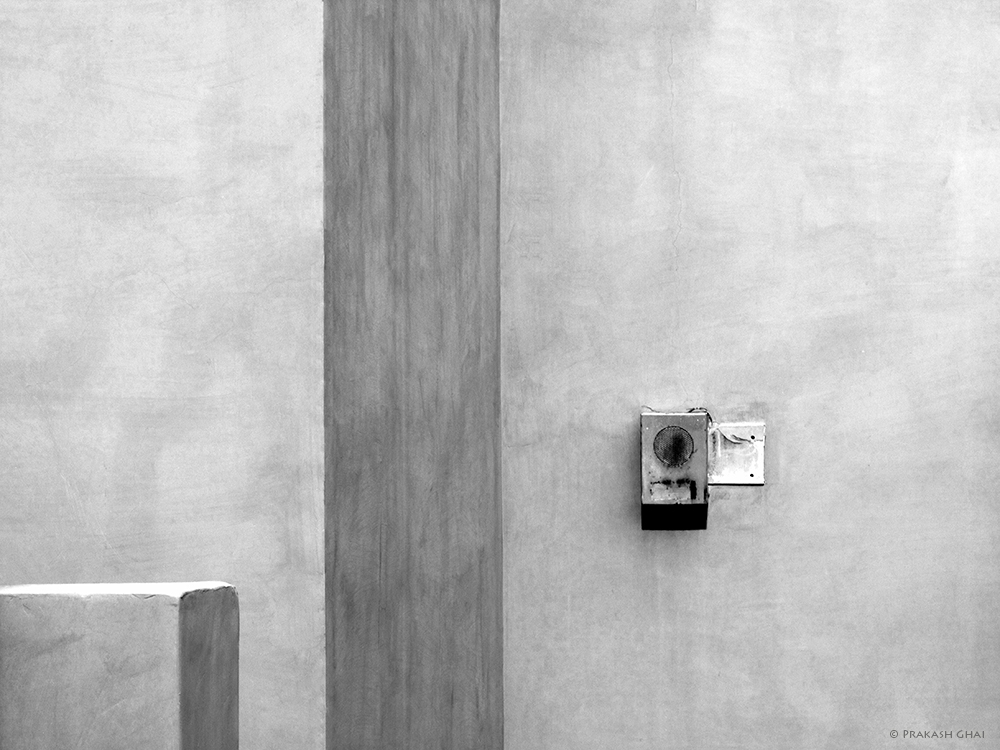 A Minimalist Photo of Shapes in black and white at Jawahar Kala Kendra Jaipur