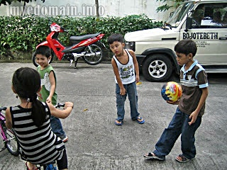 Kids playing outdoor games