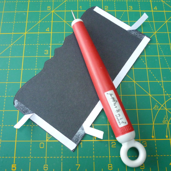 Tim Holtz Tonic Studios retractable craft pick tool paper crafts using with removing double sided tape to card