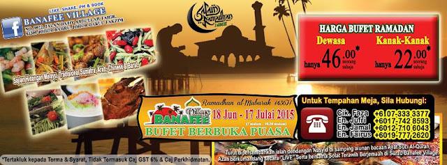 Senarai Buffet Ramadhan 2016 Johor Bahru
