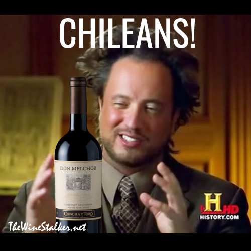 Aliens guy meets Chilean wine