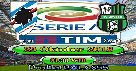 Prediksi Bola855 Sampdoria vs Sassuolo 23 Oktober 2018