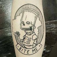 tatuaje bart simpson esqueleto