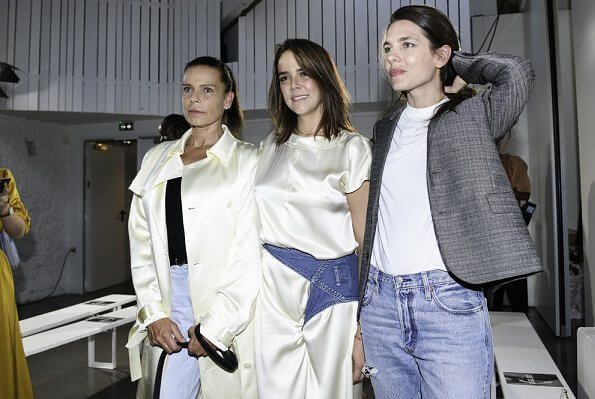 Princess Stephanie, Charlotte Casiraghi, Camille Gottlieb at Alter Design Menswear Spring Summer 2020 collection
