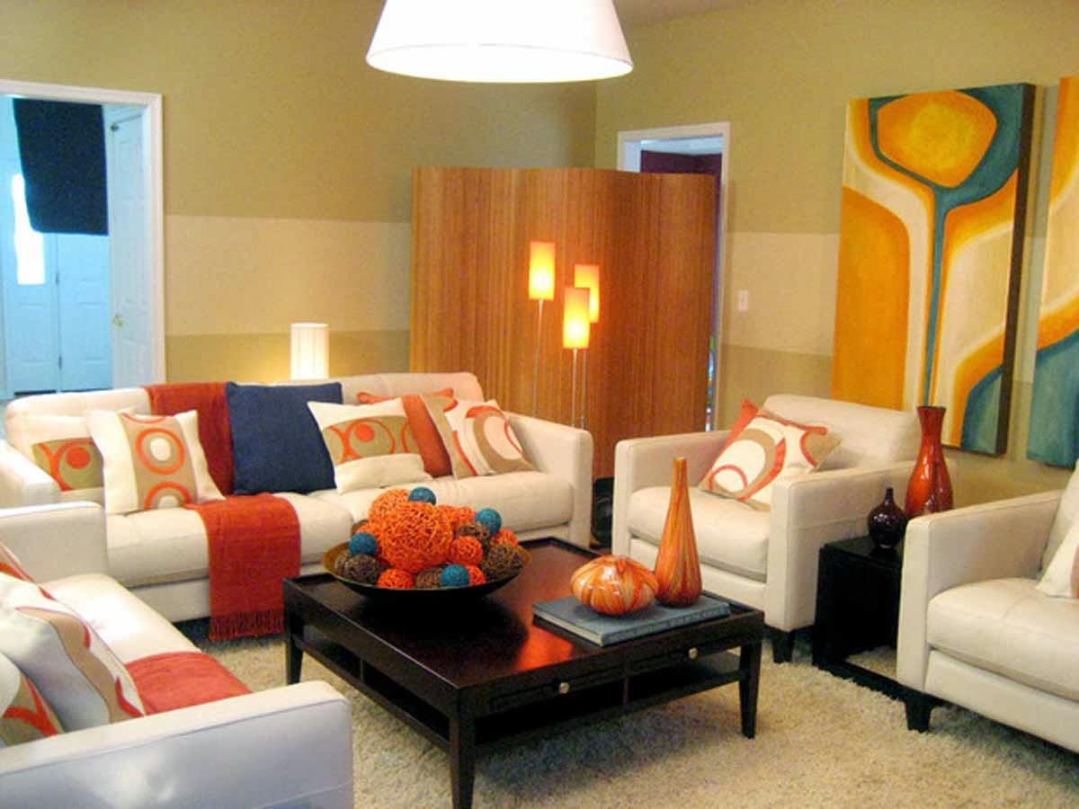 Contoh Gambar Kombinasi Warna Cat Ruang Tamu Elegan