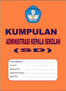 Buku Kumpulan Kelengkapan Administrasi Kepala Sekolah