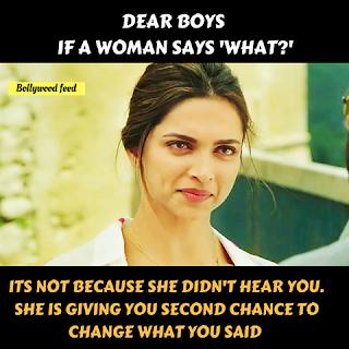 Makna Tersirat Kata - Kata Seorang Wanita, Deepika Padukone, Bollywood, Lawak, Disebalik Kata - Kata Wanita,