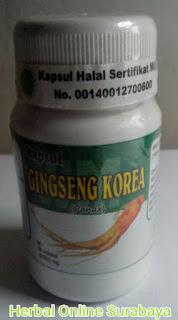Jual Kapsul Ginseng Korea untuk sakit diabetes dan disfungsi ereksi di surabaya