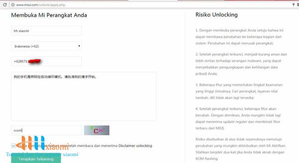 formulir unlock bootloader