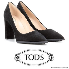 Kate Middleton wore Tod's Block Suede Pumps