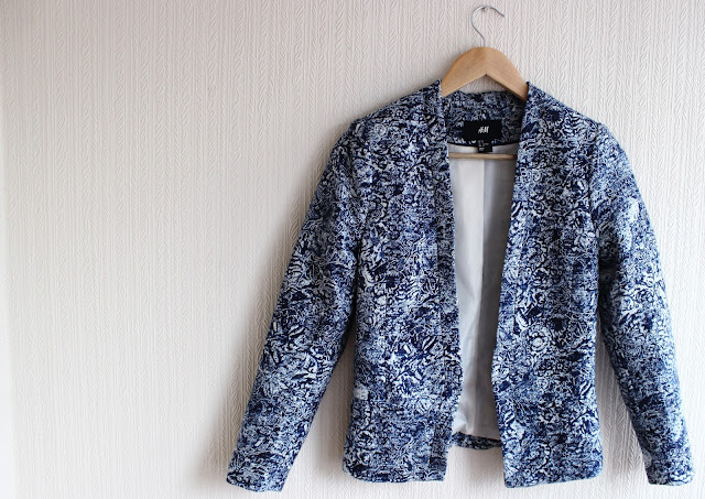 print blazer, pattern, hm, purchase