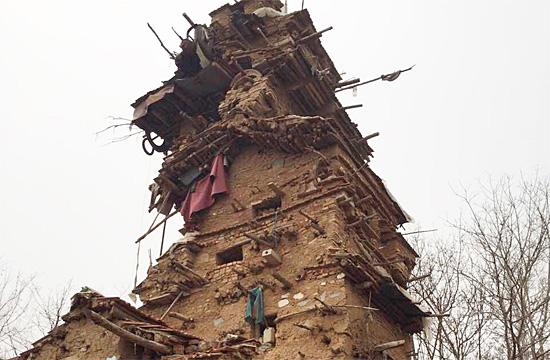 Shandong clay tower by Hu Guangzhou