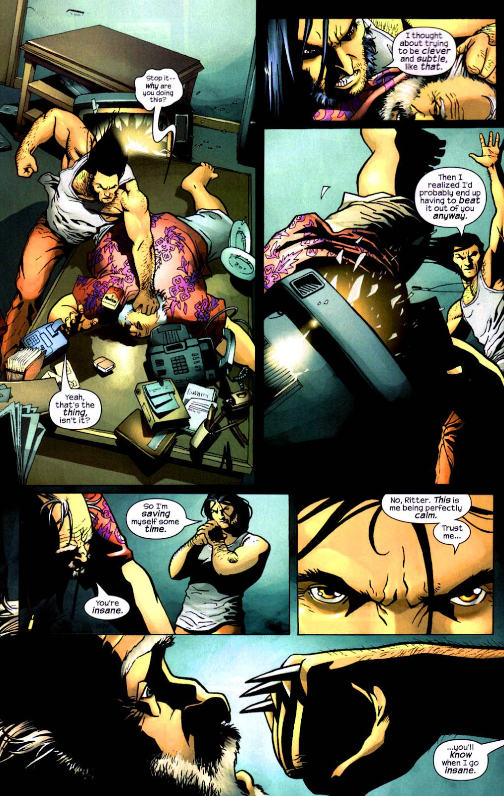 Read online Wolverine (2003) comic -  Issue #8 - 9