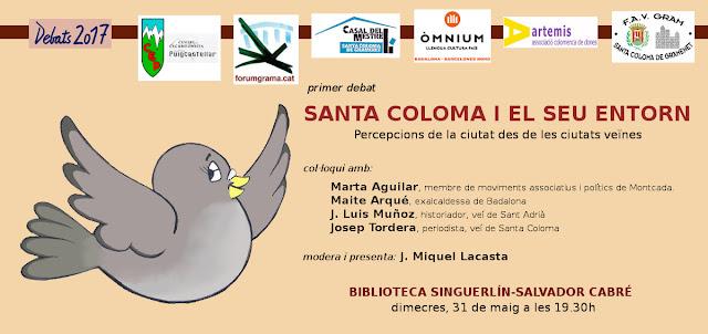 1r Debat 2017 Santa Coloma i el seu entorn