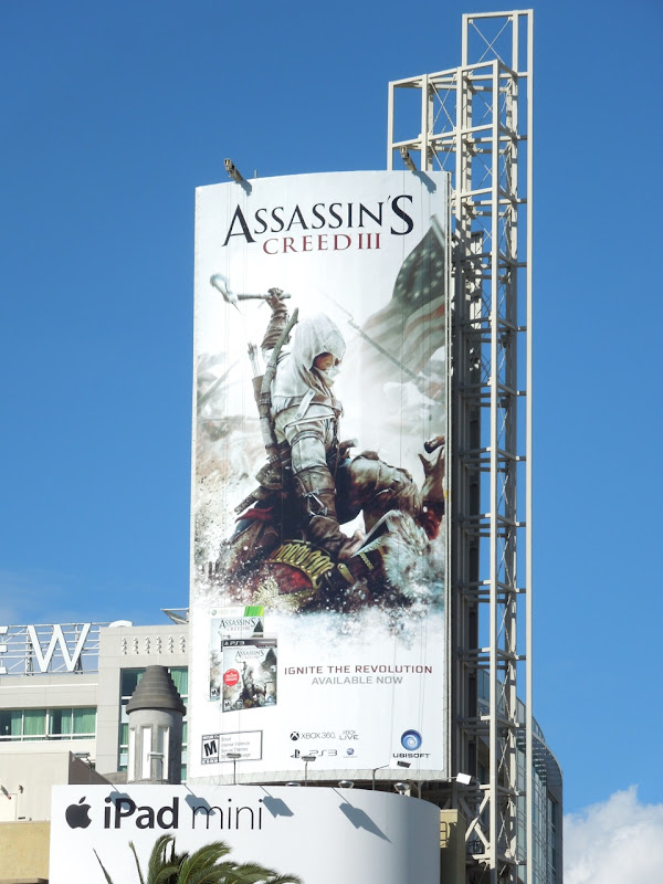 Assassins Creed III billboard Hollywood