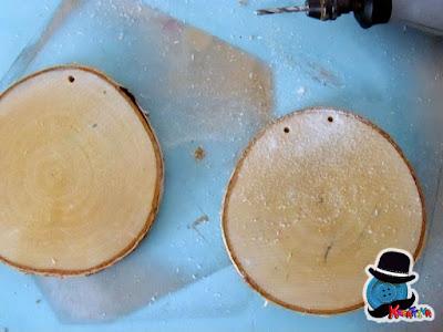 dischi di legno betulla