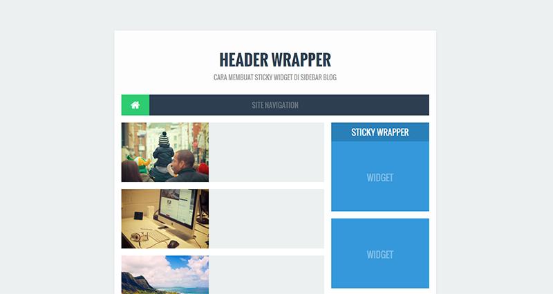 Cara Membuat Sticky Widget di Sidebar Blog