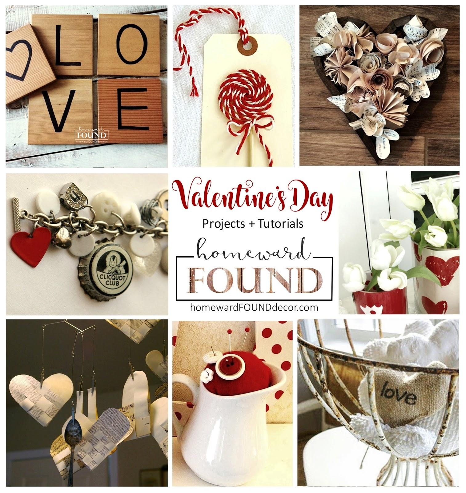 Valentine\'s Day Projects + Tutorials homewardFOUND decor