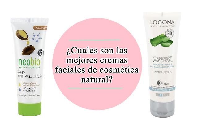 mejores cremas faciales de cosmetica natural