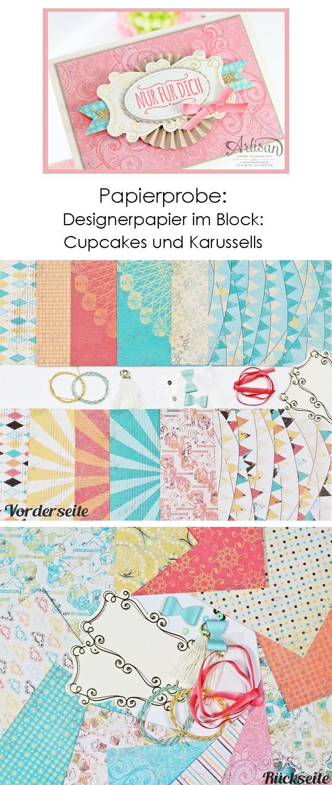 Papier Probe Cupcakes und Karussells von Stampin Up